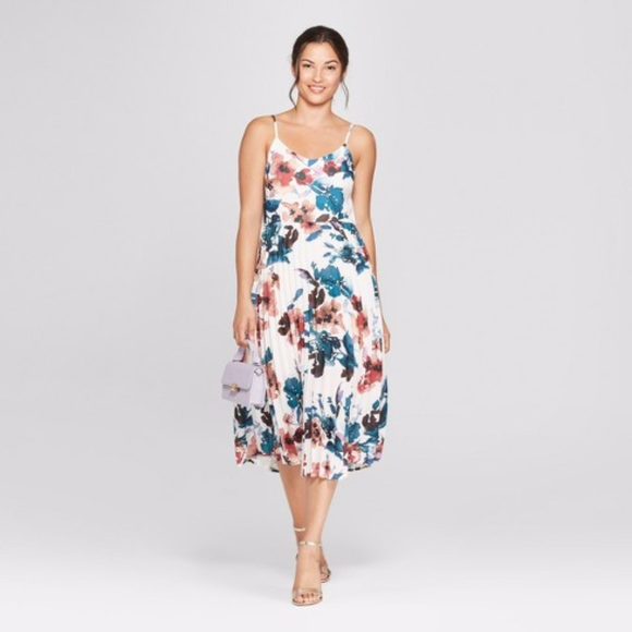 58bad310976d a new day Dresses & Skirts - Women's Floral Print Sleeveless Pleated Slip  Dress